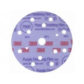 Абразивен велкро диск с филмова основа 3M 260L Hookit - ф150 мм, P1500