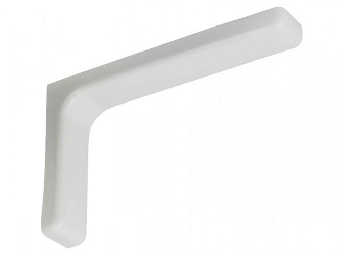Ъглова конзола с пластмасов декоративен капак WSPP - 180 х 115 х 35 мм, Бял