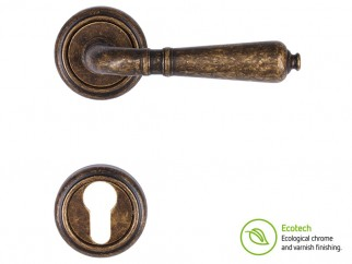 Forme Vintage Antik Interior Door Handles - Antique Bronze, For Cylinder