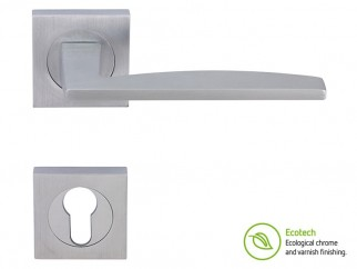 Forme Fashion Modena Interior Door Handles - Satin Chrome, For Cylinder