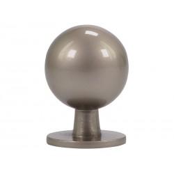 Мебелна дръжка 8125S - ф19 мм, С един винт, Никел мат