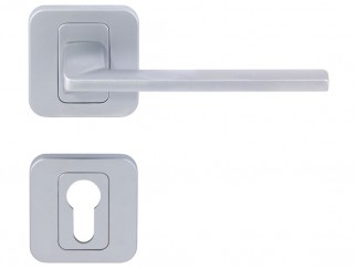 Pem Interior Door Handles - Matte Chrome, For Cylinder