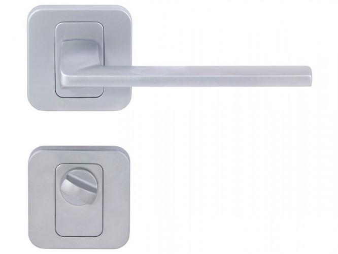 Дръжка за интериорни врати Пем - Хром мат, За WC