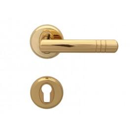 Дръжки за интериорни врати Вега - Секретен патрон, Злато