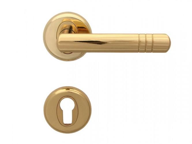 Дръжка за врати Вега - за секретен патрон, злато