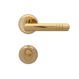 Дръжки за интериорни врати Вега - WC, Злато