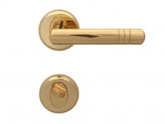 Дръжка за врати Вега - за WC, злато