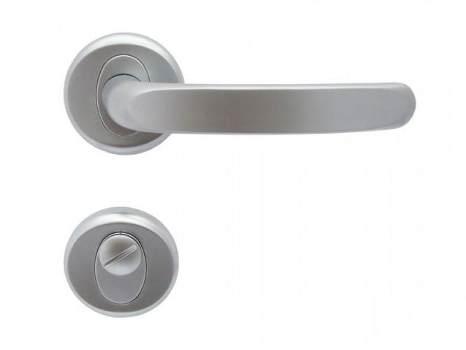 Дръжки за интериорни врати Регулус - Хром мат, За WC