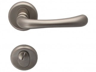 Draco Interior Door Handles - Matte Nickel, For WC