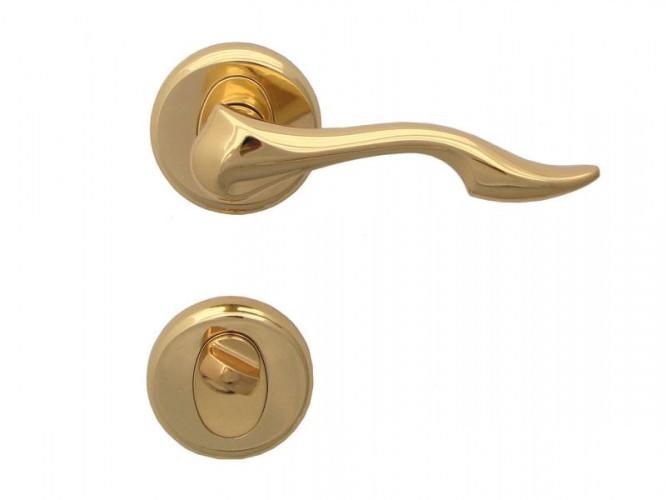 Дръжка за врати Делфин - за WC, злато