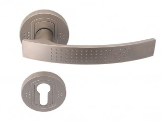 Argus Door Handle - For Cylinder, Matte Nickel