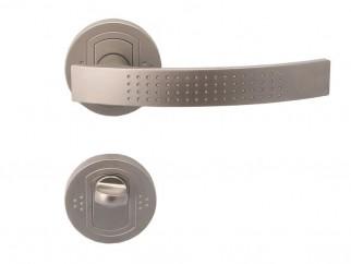 Дръжка за врати Аргус - за WC, никел мат