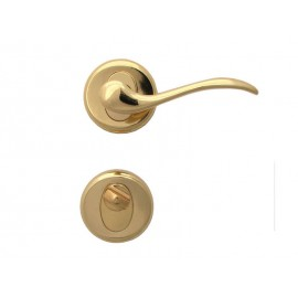Дръжки за интериорни врати Барон - WC, Злато