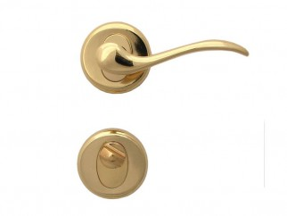 Baron Door Handle - For WC, Gold