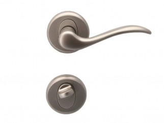 Baron Door Handle - For WC, Matte Nickel