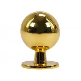 Дръжка за мебели KAMA 8125S - ф19 мм, С един винт, Злато