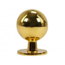 Мебелна дръжка 8125S - ф19 мм, С един винт, Злато