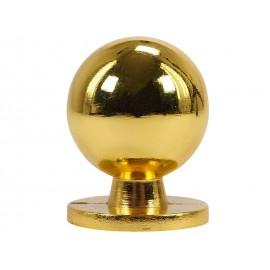 Дръжка за мебели KAMA 8125L - ф25 мм, С един винт, Злато