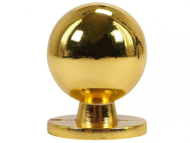 Мебелна дръжка 8125L - ф25 мм, С един винт, Злато