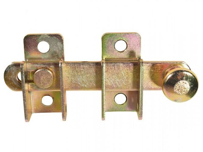 Метално резе с насрещник за дървени порти и капаци WOG - 120 х 20 мм