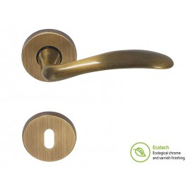 Forme Basic Clara Interior Door Handles - Polished Bronze, For Standard Key