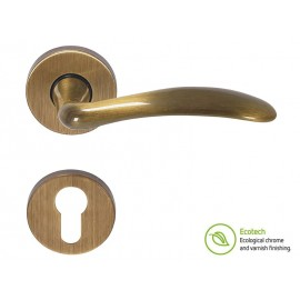 Forme Basic Clara Interior Door Handles - For Cylinder, Polished Bronze