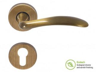 Дръжки за интериорни врати Forme Basic Clara - Секретен патрон, Полиран бронз