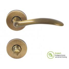 Forme Basic Clara Interior Door Handles - WC, Polished Bronze