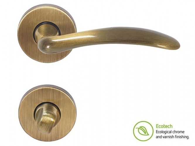 Дръжки за интериорни врати Forme Basic Clara - WC, Полиран бронз