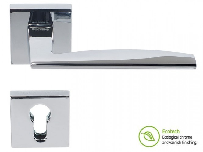 Дръжки за интериорни врати Forme Fashion Modena - Секретен патрон, Полиран хром
