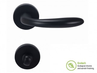 Forme Basic Padova Interior Door Handles - WC, Matt Black