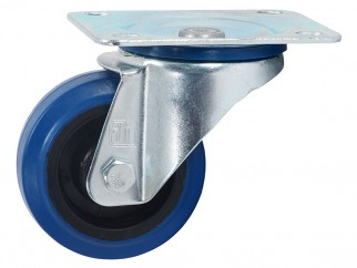 372081Ball-bearing Swivel Castor With Plate - 80 mm