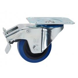 Многопосочно ходово колело с планка и спирачка Adam Hall 372091 - ф80 мм