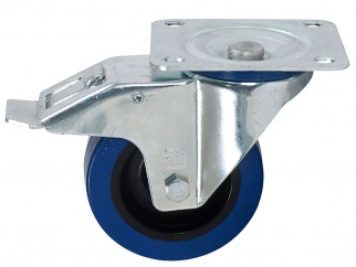 372191 Ball-bearing Swivel Castor With Plate And Brake - 100 mm