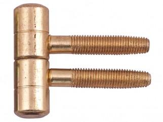 Screw Door Hinge - 16 mm, Brass