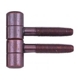 Screw Door Hinge - 16 mm, Bronze
