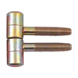 Винтова панта за интериорни врати - ф16 мм, Жълт цинк