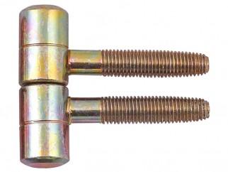 Screw Door Hinge - 16 mm, Zinc Yellow