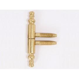 Винтова панта с орнаменти за интериорни врати - ф13 мм, Месинг