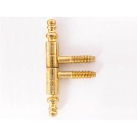 Винтова панта с орнаменти за интериорни врати - ф9 мм, Месинг