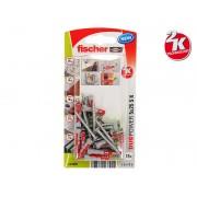 Fischer DUOPOWER S K Universal Plugs With Screw - 5 x 25 mm