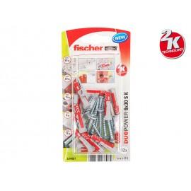 Fischer DUOPOWER S K Universal Plugs With Screw - 6 x 30 mm