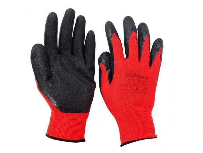 Чифт защитни работни ръкавици топени в латекс Perun
