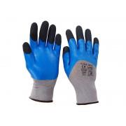 Чифт защитни работни ръкавици Chimera Lux топени в нитрил и латекс