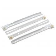 Ролкови механизми за чекмеджета KAMA - 400 мм, Бял, Комплект