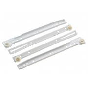 Ролкови механизми за чекмеджета KAMA - 550 мм, Бял, Комплект