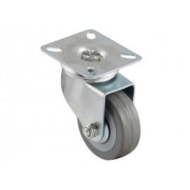 KAMA BQ07-S Ball-bearing Castor With Plate - ∅50 mm