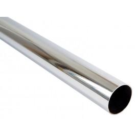 Метален кръгъл лост за гардероб GTV - 1 метър, ф25 мм, Хром