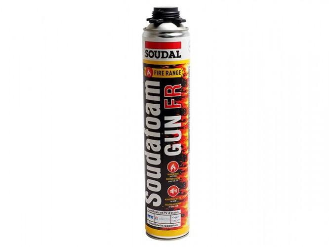 Полиуретанова пожароустойчива монтажна пяна Soudal Soudafoam FR