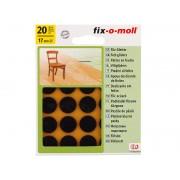 Самозалепващи плъзгачи за крака на мебели Fix-o-moll - ф17 мм, 20 бр., Кафяв
